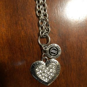 Beautiful Guess Heart necklace and bracelet.